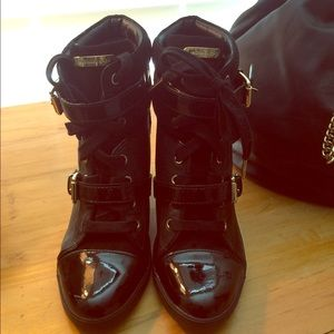 Michael Kors Skid Wedge Patent Sneaker